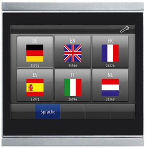 Language overview Corlo Touch KNX