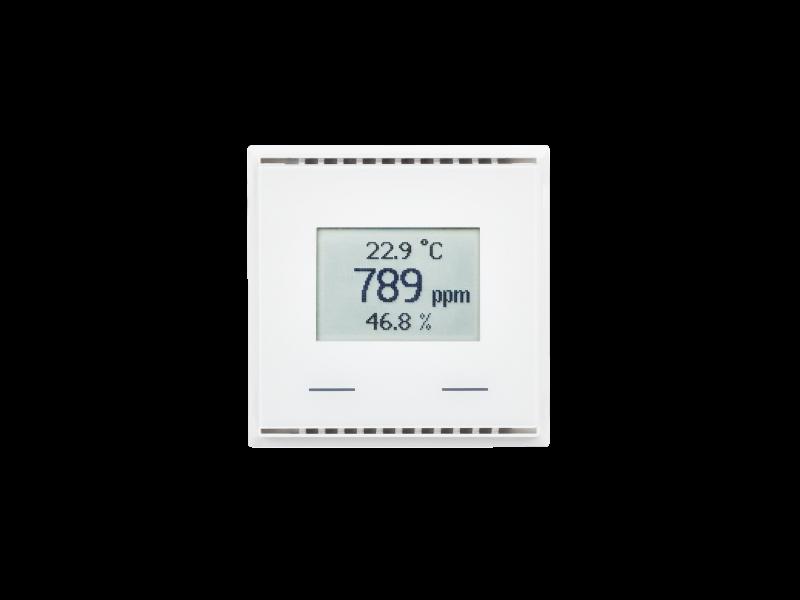 KNX AQS/TH-UP Touch CH, reinweiß RAL 9010