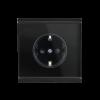 Corlo Steckdose, schwarz/schwarz matt(70333)