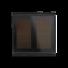 Corlo P1 RF Einfach-Solartaster, schwarz/schwarz matt (70343)