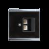 Corlo Abdeckung für LAN-Dose, schwarz/Chrom glanz (70422)