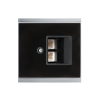 Corlo Abdeckung für LAN-Dose, schwarz/Chrom matt(70424)