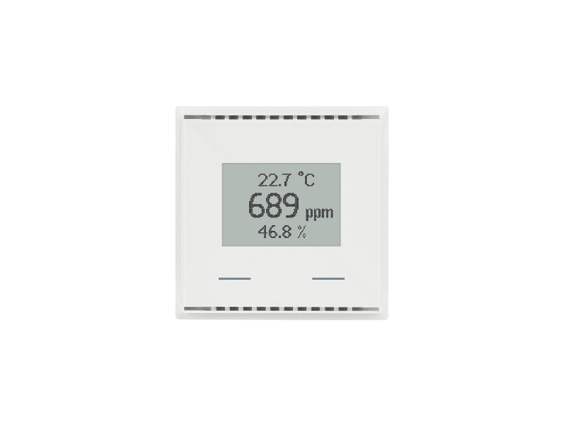 KNX AQS/TH-UP Touch CH, pure white RAL 9010