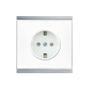 Corlo Power Outlet, white/chrome matt (70330)