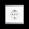 Corlo Power Outlet, white/chrome matt (70330)