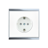 Corlo Power Outlet, white/chrome glossy (70318)