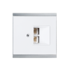 Corlo Cover for LAN Connection Box, white/chrome matt (70423)