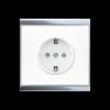 Prise de courant Corlo, blanc/chromé brillant (70318)