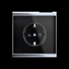 Prise de courant Corlo, noir/chromé brillant (70319)