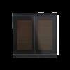 Corlo P2 RF Bouton-poussoir solaire double, noir/noir mat (70345)
