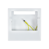 Surface-mounted housing for WS1 Color, blanc