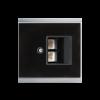 Recouvrement prise LAN Corlo, noir/chromé mat (70424)