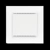 KNX T-UP gl CH blanc avec cadre (non compris dans la livraison)