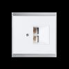 Recouvrement prise LAN Corlo, blanc/chromé mat (70423)