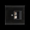 Recouvrement prise LAN Corlo, noir/noir mat (70426)