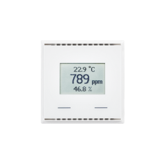KNX AQS/TH-UP Touch CH, bianco puro RAL 9010