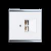 Cubierta para cajas LAN Corlo, blanco/cromado brillante (70421)